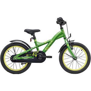 Двухколесный велосипед  XXlite 16 дюймов, зеленый Scool. Цвет: зеленый