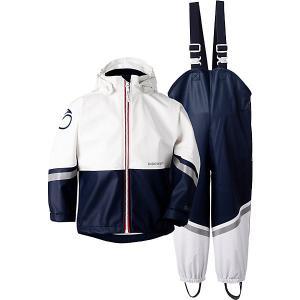 Комплект Didriksons Waterman: куртка и полукомбинезон. Цвет: синий/белый