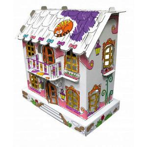 Сборная раскраска  Кукольный домик Джульетта CartonHouse. Цвет: белый