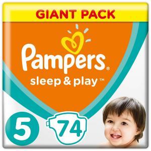 Подгузники  Sleep & Play (Размер 5/Junior) (11-16 кг) 74 шт. Pampers