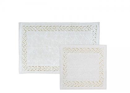 Naturale Pietre Комплект ковриков для ванной комнаты хлопковый 60х100 см 2 шт. Castafiore