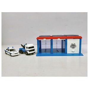 Гараж  Полиция, 2 машинки Пламенный мотор