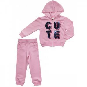 Комплект для девочки (толстовка, брюки) L4707 Lilax
