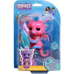 Интерактивный дракон  Fingerlings Сенди, 12 см WowWee. Цвет: розовый