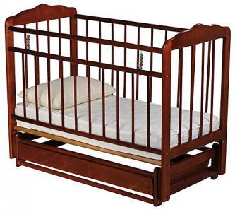 Кровать-качалка  Женечка-6, цвет: вишня ИП Смирнов
