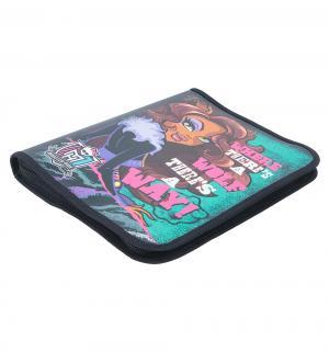 Папка для тетрадей  на молнии пластик Monster High