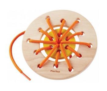 Деревянная игрушка  Набор со шнуровкой Кольцо Plan Toys
