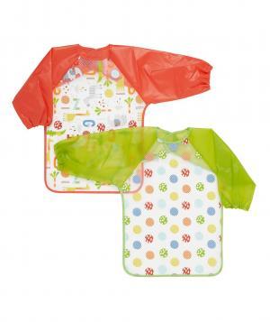 Слюнявчики  с рукавами Друзья, 2 шт. в упаковке Mothercare