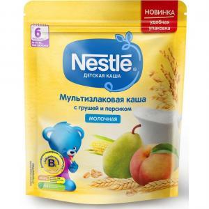 Каша  молочная мультизлаковая с грушей и персиком 6 месяцев 220 г Nestle
