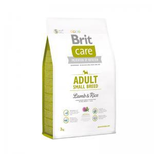 Сухой корм  Care для взрослых собак мелких пород, ягненок/рис, 3кг Brit