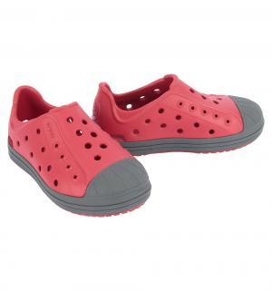 Туфли пляжные  Bumper Toe Shoe Pepper/Graphite, цвет: красный Crocs