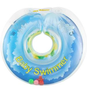 Круг  полуцвет+погремушка, цвет: голубой Baby Swimmer