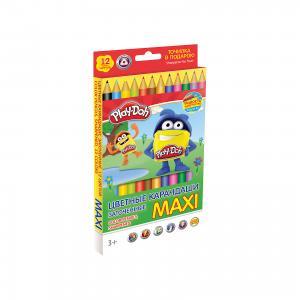 Цветные карандаши Maxi 12 цветов, Play-Doh Академия групп