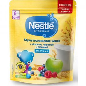 Каша  молочная мультизлаковая яблоко-черника и малина с 6 месяцев 220 г Nestle