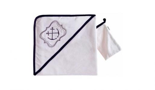 Комплект полотенце-уголок + варежка Blue Ocean Kidboo