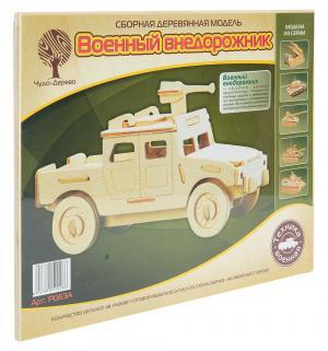 Деревянный конструктор  Военный внедорожник малый Wooden Toys
