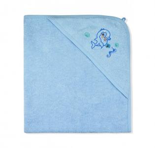 Пеленка-полотенце махровая Дельфин 95х95 см Лео