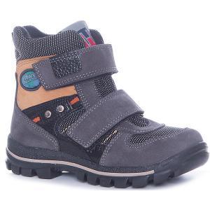 Ботинки для мальчика Minimen. Цвет: серый