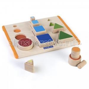 Деревянная игрушка  Сортер пирамидка Nest and Stack Shapes Действия с формами Guidecraft