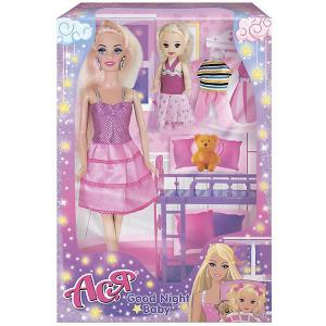 Набор кукол  Спокойной ночи, малышка Ася, 28 см Toys Lab. Цвет: розовый
