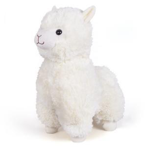 Мягкая игрушка  Гламурная Альпака 38х20х31 цвет: белый Fancy