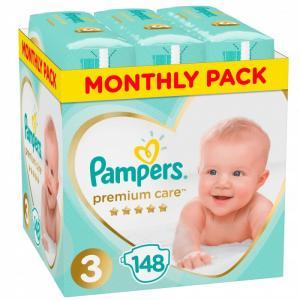 Подгузники Premium Care 3 р. (6-10 кг) 148 шт. Pampers