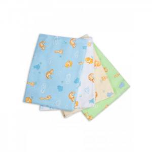 Пеленка  для новорожденных фланелевая Сыночку Зверюшки 4 шт. Чудо-чадо