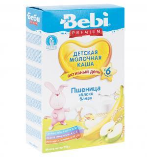 Каша  молочная пшеничная с яблоком и бананом 6 месяцев 250 г Bebi