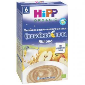 Каша  молочная овсяно-пшеничная с яблоком 6 месяцев 50 г Hipp