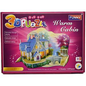 3D пазлы  Теплый дом, 23 деталей Funny