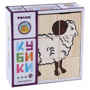 Кубики Домашние животные, 9 штук, Томик
