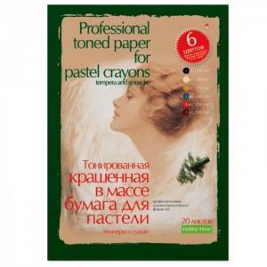Папка для пастели гуаши темперы А3 20 листов 6 цветов Альт