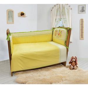 Комплект постельного белья из 6 предметов  Мой садик салатовый Soni Kids. Цвет: светло-зеленый