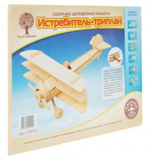 Сборная деревянная модель  Триплан Wooden Toys