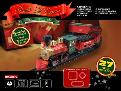Железная дорога North Pole Express Train Set 27 частей Eztec