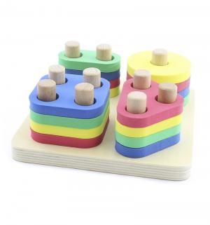 Развивающая игрушка  Логический квадрат 17.5 см Мир Деревянных Игрушек
