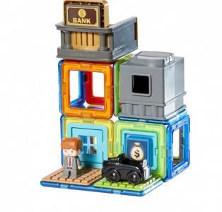 Конструктор  магнитный Town Set - Bank (22 элемента) Magformers