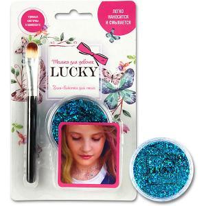 Гель-блестки Lucky для тела/лица, голубой, 25 мл 1Toy