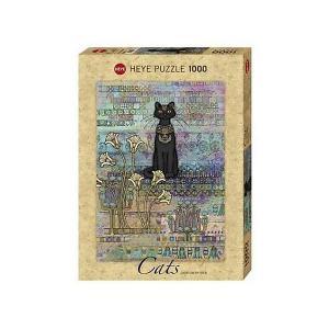 Пазлы  Египетская кошка, 1000 деталей, с фольгой HEYE