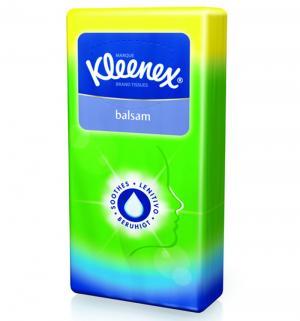 Носовые платки для ежедневной гигиены  с бальзамом, 9 шт Kleenex