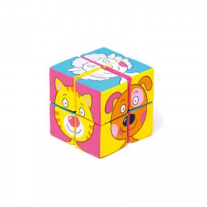 Кубики Собираем картину - зверята, Мякиши