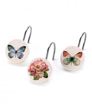 Набор из 12-ти крючков для шторки Butterfly Garden Avanti