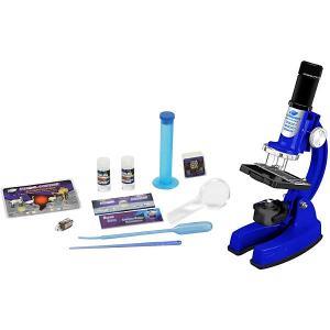 Микроскоп  в кейсе, 48 предметов, синий Eastcolight
