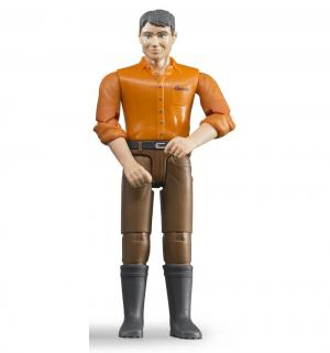 Мужчина в коричневых джинсах 11 см Bruder