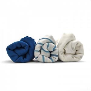 Пеленка  Муслиновая с застёжками Небесная синева 120х90 см (3 шт.) Umbo