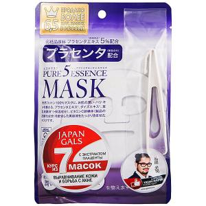 Маска для лица  Pure5 Essence с плацентой, 7 шт Japan Gals