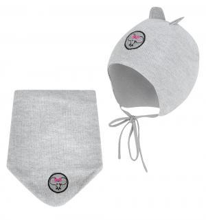 Комплект шапка/шарф , цвет: серый Krochetta