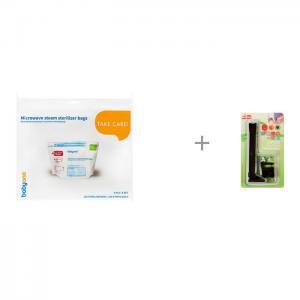 Пакеты для стерилизации в микроволновой печи и Замок-блокиратор Baby Safety Гребенка BabyOno