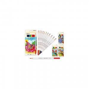Цветные карандаши, 12 цветов (дизайн в ассортименте) Schreiber