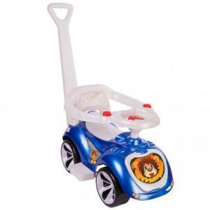 Каталка Орион машинка с родительской ручкой Мишка R-Toys